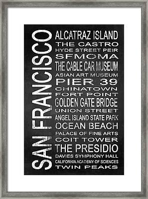 Subway San Francisco 1 Framed Print by Melissa Smith