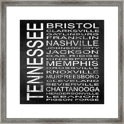 Subway Tennessee State Square Framed Print by Melissa Smith