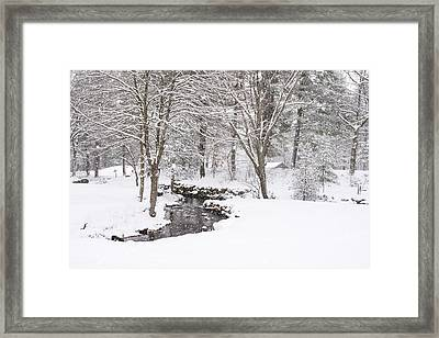Sudbury Ma Winter Stream Framed Print by Toby McGuire