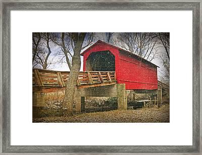 Sugar Creek Covered Bridge 3 Framed Print by Marty Koch