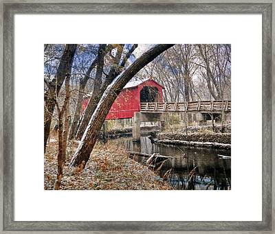 Sugar Creek Covered Bridge4  Framed Print by Marty Koch