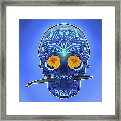 Sugar Skull Framed Print by Nelson Dedos Garcia