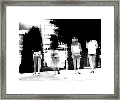 Sugar Walk Framed Print by Steven  Digman