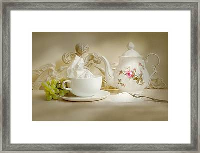 Sugar With Tea Framed Print by Diana Angstadt