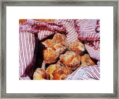 Sugared Donut Holes Framed Print by Susan Savad
