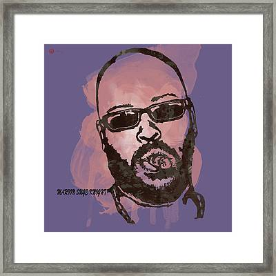 Suge Knight Pop Stylised Art Sketch Poster Framed Print by Kim Wang