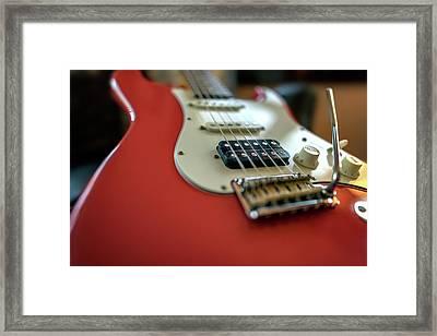 Suhr Classic Antique Guitar Framed Print by Rick Berk