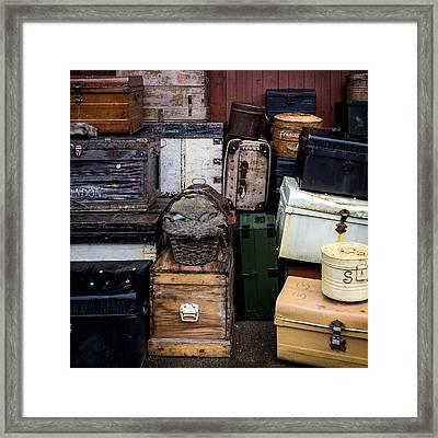 Suitcases Framed Print by Joana Kruse