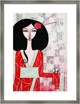 Suki Framed Print by Natalie Briney