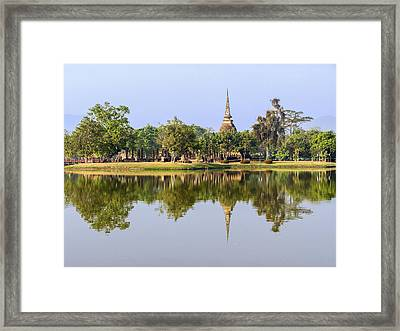 Sukothai Historical Park Framed Print by Sally Weigand