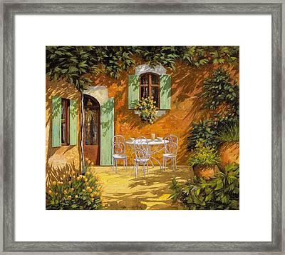 Sul Patio Framed Print by Guido Borelli