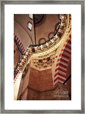 Suleymaniye Architecture Framed Print by John Rizzuto
