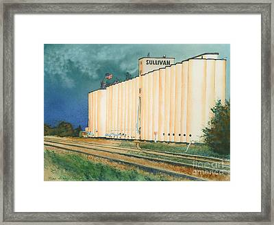 Sullivan Elevator Ulysses Ks Framed Print by Tracy L Teeter