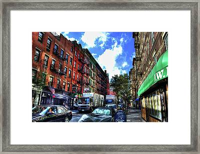 Sullivan Street In Greenwich Village Framed Print by Randy Aveille