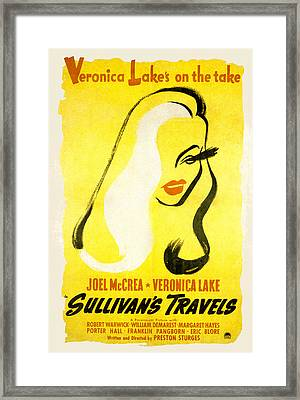 Sullivans Travels, Veronica Lake Framed Print by Everett