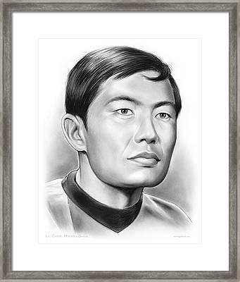Sulu Framed Print by Greg Joens
