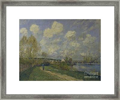 Summer At Bougival Framed Print by MotionAge Designs