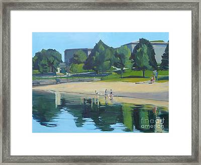 Summer At Castle Island Framed Print by Deb Putnam