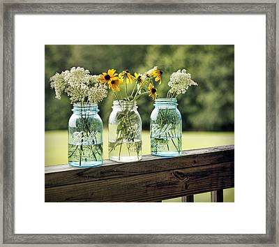 Summer Blooms Framed Print by Cricket Hackmann
