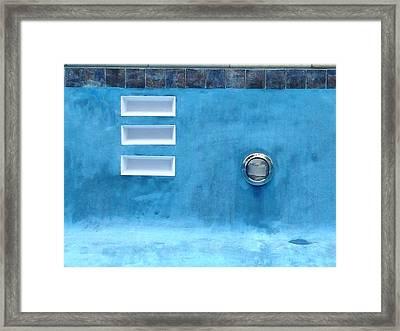 Summer Blues Framed Print by Anna Villarreal Garbis