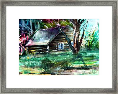 Summer Cabin Framed Print by Mindy Newman