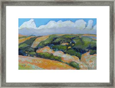 Summer Clouds Over Foothills Framed Print by Kip Decker