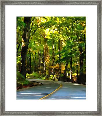 Summer Drive In The Country Framed Print by Dan Sproul