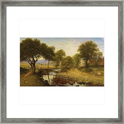 Summer Evening At Penlester Framed Print by Waller Hugh