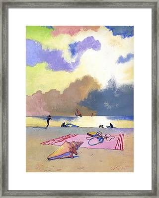Summer Evening Framed Print by George Adamson