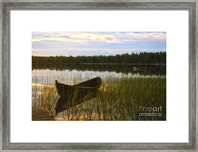 Summer Evening Peace Framed Print by Veikko Suikkanen