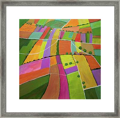 Summer Fields Framed Print by Toni Silber-Delerive