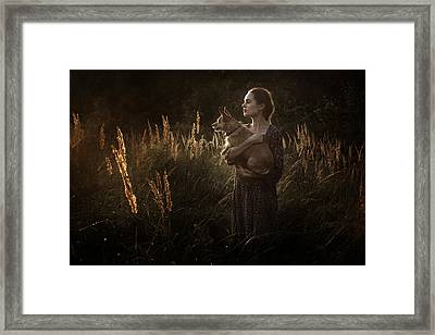 Summer Fire Framed Print by Cambion Art