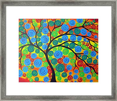 Summer Fling Framed Print by Cathy Jacobs
