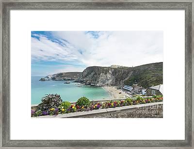 Summer Flowers In St Agnes Framed Print by Terri Waters