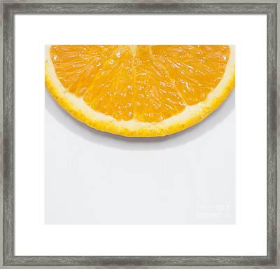 Summer Fruit Orange Slice On Studio Copyspace Framed Print by Jorgo Photography - Wall Art Gallery