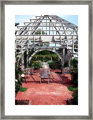 Summer Gazebo Of Franklin Park Conservatory Framed Print by Mindy Newman
