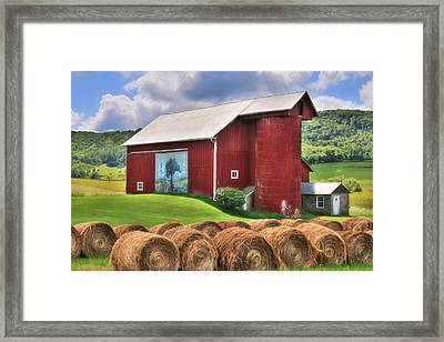 Summer In Bradford County Framed Print by Lori Deiter