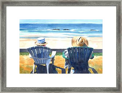 Summer In Lincoln City Framed Print by Melody Cleary