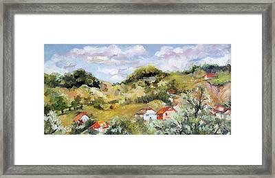 Summer Landscape Framed Print by Vali Irina Ciobanu