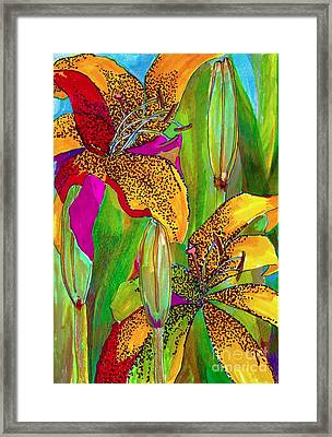 Summer Lilies Framed Print by Claudia Smaletz