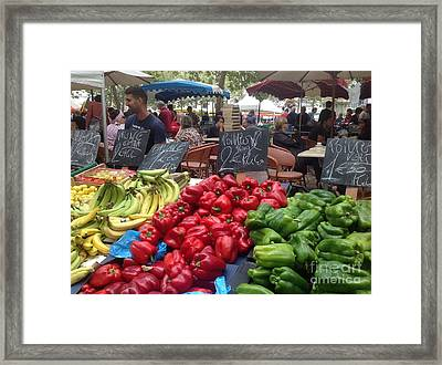 Summer Market Framed Print by France Art