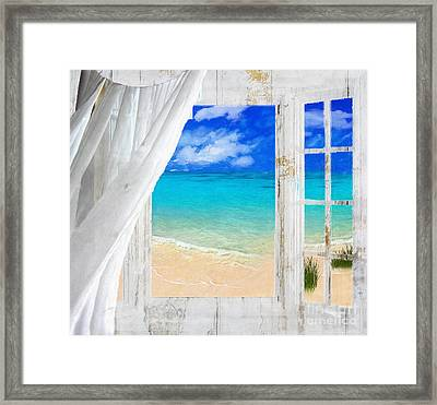 Summer Me Iv Framed Print by Mindy Sommers