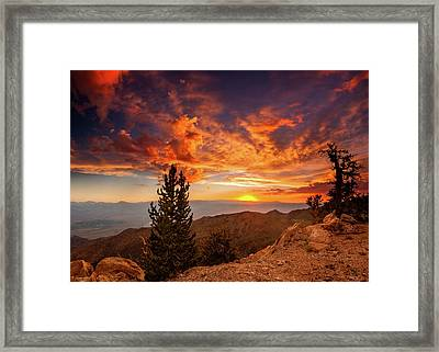 Summer Monsoon Over The Owens Framed Print by Dan Holmes