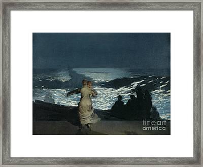Summer Night Framed Print by Winslow Homer