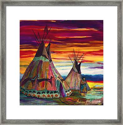 Summer On The Plains Framed Print by Anderson R Moore