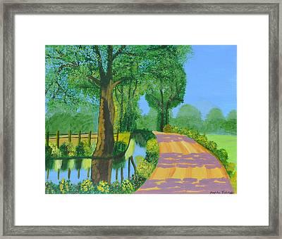 Summer Path Framed Print by Magdalena Frohnsdorff