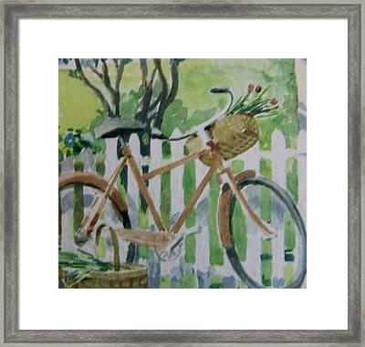 Summer Ride Framed Print by Florene Welebny