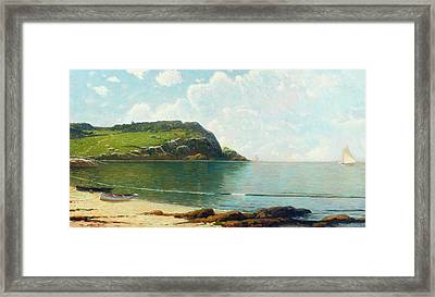 Summer Sailing Framed Print by Alfred Thompson Bricher