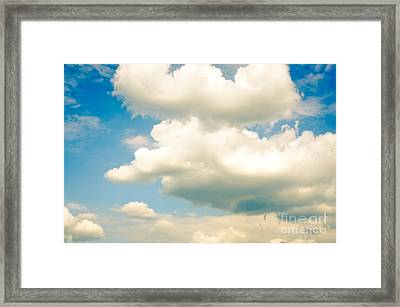 Summer Sky Blue Sky White Clouds Framed Print by Andy Smy