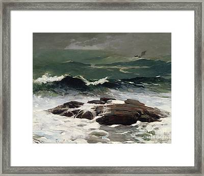 Summer Squall Framed Print by Winslow Homer